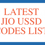 Jio USSD codes list Jio net balance check 2018