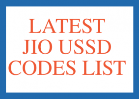 JIO USSD CODES LIST, JIO NET BALANCE CHECK